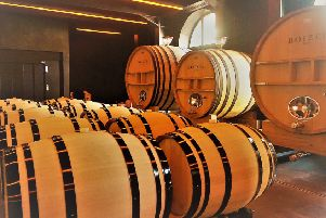 Inside the winery at Boizel