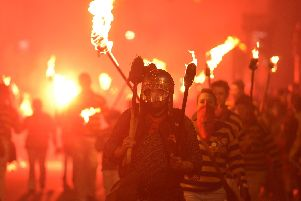 Last year's Lewes Bonfire. Photograph by Peter Cripps