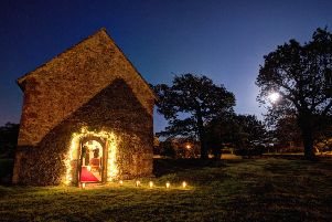 The candlelit chapel at Bailiffscourt. Picture by Katariina Jarvinen