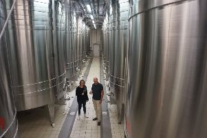 Richard with Manon, one of the wine-makers at Champagne de Barfontarc