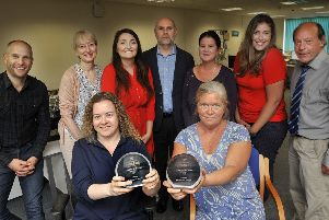 Eastbourne Herald staff with their Title of the Year 2018 award for weekly newspapers