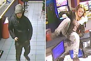 Police released CCTV of a man and woman they wish to speak to after a robbery in Eastbourne