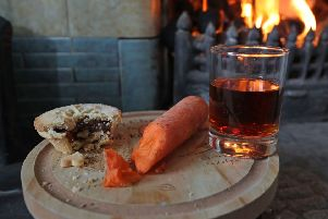 A mince pie, carrot and sherry