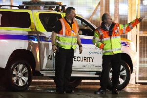 Security staff at Gatwick Airport