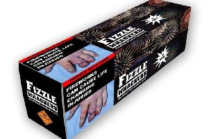 A mock up of what packaging on fireworks could look like