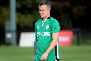 Eastbourne Borough's Dean Cox had a loan spell at Burgess Hill Town during the 2016/17 season. Picture by Steve Robards.