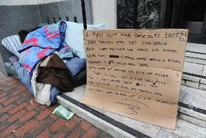 Homeless in Eastbourne (Photo by Jon Rigby) SUS-170126-094015008