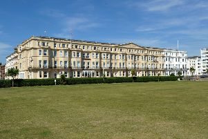 The Lansdowne Hotel viewed from Western Lawns Eastbourne September 2nd 2013 E36030PJPET wellbeing afternoon tea JPE7 SUS-140304-114340003