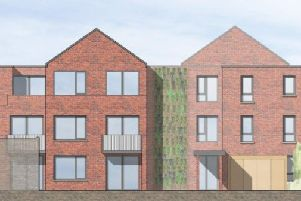 Artist's impression of the proposed flats