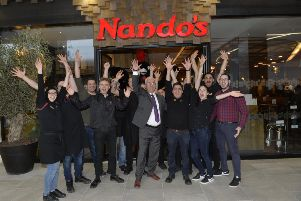 Nando's Opens in The Beacon, Eastbourne (Photo by Jon Rigby)