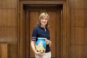 Fiona Bruce, Antiques Roadshow host. Photo by Anna Gordon. SUS-190222-114215001