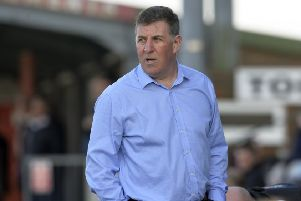 Eastbourne Borough manager Mark McGhee watches his side against Wealdstone in his first game in charge at Priory Lane (Photo by Jon Rigby) SUS-190225-105759008