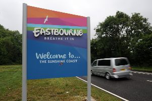 Eastbourne welcome signs. The borough delivered just 73 per cent of its housing requirement over a period of three years according to the Government's housing delivery test