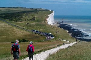 Beachy Head and WalkersJPET South downs national park ENGSUS00320130422172528