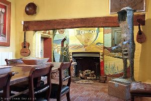Hidden gem ... the fireplace in the dining room at Farleys House. Photograph by Tony Tree