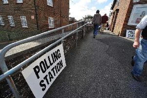 Polling station, Old Town Community Centre, Central Avenue, Eastbourne