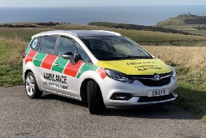 A Eastbourne Community First Responders vehicle on the South Downs