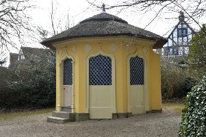 The Hermitage building which has been attacked by vandals in Manor Gardens, Gildredge Park, Eastbourne (Photo by Jon Rigby) SUS-180326-095606008