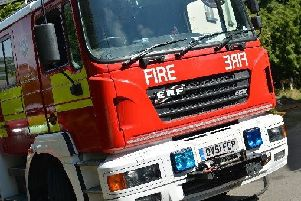 East Sussex Fire and Rescue Service was called to the scene.