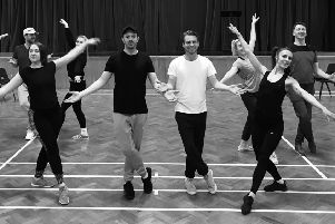 Rehearsals for the Royal Hippodrome Theatre variety show SUS-190424-085444001