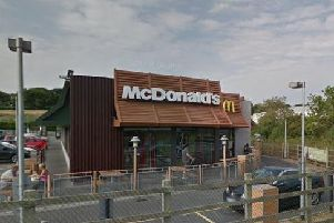 The incident happened outside McDonald's in Polegate. Picture: Google Streetview