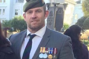 John Parker wearing his medals on Remembrance Sunday