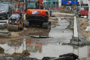 Flooding at the site in Cornfield Road, Eastbourne