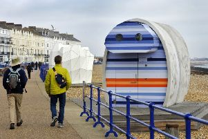 Controversial beach hut on Eastbourne seafront (Photo by Jon Rigby) SUS-190218-100937008
