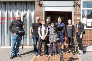 The film crew in Eastbourne