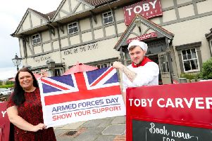 Toby Carvery is offering free meals to military personnel