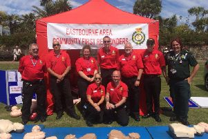 Eastbourne Responders showed nearly 1000 visitors how to do CPR at the event