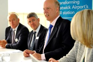 Transport Secretary Chris Grayling announcing the upgrade at a press conference today (July 8). Photo by Steve Robards