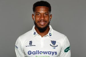 Chris Jordan was one of few Sussex batsmen to reach double figures / Picture: Getty Images
