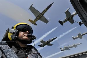 Breitling Jet Team. Photo by Katsuhiko Tokunaga SUS-190729-164402001