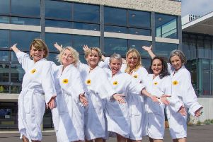 The Calendar Girls outside the Congress Theatre, Eastbourne. Peter Gurr photography