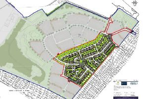 Layout of 146 new Willingdon homes