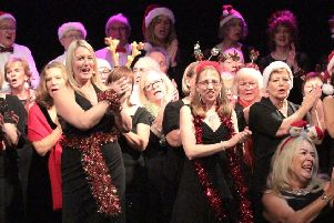 Voices Choir Christmas concert at the Kings Centre, Eastbourne SUS-180901-104049001