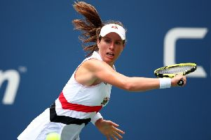 Johanna Konta in action at the US Open. Picture courtesy of Getty Images.
