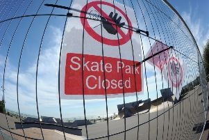 Sovereign Skate Park closed in Eastbourne (Photo by Jon Rigby) SUS-160915-091643008