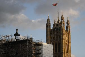 The Union Flag flies from the top of Victoria Tower at the Houses of Parliament in central London on September 4, 2019. (Photo by Tolga AKMEN / AFP)        (Photo credit should read TOLGA AKMEN/AFP/Getty Images) NNL-190923-155921001