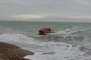 The Eastbourne RNLI lifeboat. Photo by RNLI Eastbourne