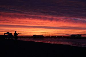 Worthing woke up to a stunning sunrise this morning