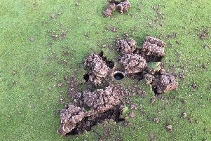 Vandals cause serious damage at Willingdon Golf Club green
