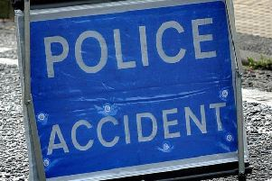 The collision on the A22 involved a car and a van