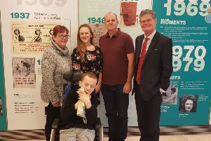 Stephen Lloyd with Leanna Forse, her son Billy, Stephen Spence and Jackie Hoadley