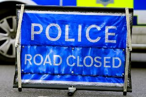 The A27 was closed to deal with a van fire