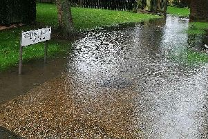 The puddle in question has been described as a lake