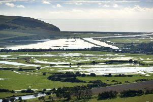 Cuckmere valley in flood