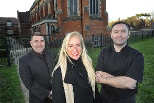 Picture by Mark Dimmock: Dariana Galli and the team from All Saints Chapel