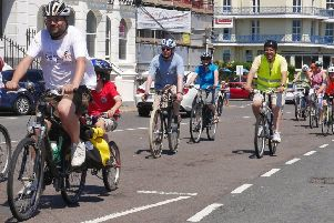 Bespoke cycling rally along the seafront